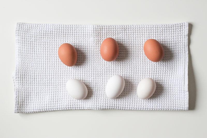 яйца на полотенце